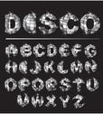 Stock Illustration of silver disco ball letters