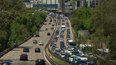 Cars stuck in heavy Sydney traffic during a hot summer's day PT1 - stock footage