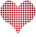 Stock Illustration of Heart made of dots