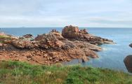 Stock Photo of coastal detail around perros-guirec