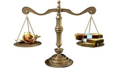 Inequality scales of justice income gap south africa Stock Illustration