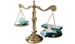 Inequality scales of justice income gap brazil Stock Illustration