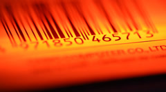 Bar Code Label - stock footage