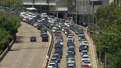 Cars stuck in heavy Sydney traffic during a hot summer's day PT4 - stock footage