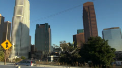 Downtown buildings in Los Angeles - stock footage