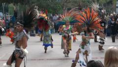 Maya Indians dance show in the Mexico quarter Stock Footage