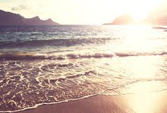Beach on lofoten Stock Photos
