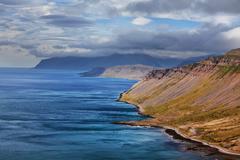 Iceland, landscape of Iceland shore - stock photo