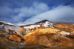 Iceland, landscape of central Iceland - stock photo