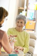 medical assist. for the elderly - stock photo