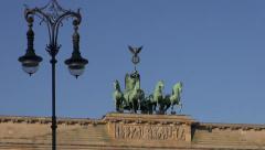 Brandenburg Gate in Germany capital Stock Footage