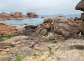 Stock Photo of idyllic coast around perros-guirec