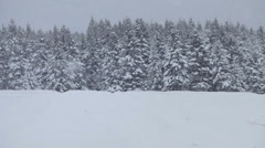 Lonely Man Snowmobiling in The Powder Snow Stock Footage