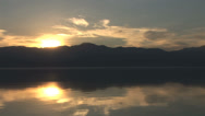 Stock Video Footage of Stunning Lake Reflections shot at sunset
