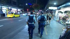 NSW Police patrol Kings Cross in Sydney Stock Footage