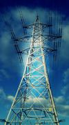 Stock Photo of Transmission Tower Electricity Pylon #7