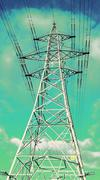 Transmission Tower Electricity Pylon #4 Stock Photos