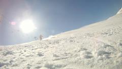 Alpine skier Stock Footage