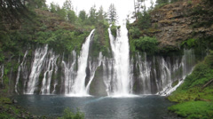 Burney Falls, California - Low Angle 30s 720p Stock Footage