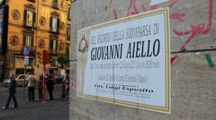 Naples street scenes Stock Footage