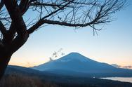 Stock Photo of sunset fujisan