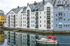 Downtown Alesund, Norway Stock Photos