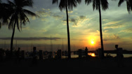 Stock Video Footage of manila harbor sunset