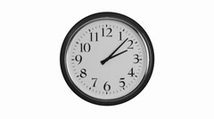 Move the clock to summer time, one hour ahead Stock Footage