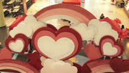 Stock Video Footage of Hearts On Valentine's Day