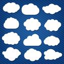 Stock Illustration of cartoon clouds set