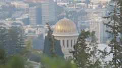 Bahai temple haifa Stock Footage