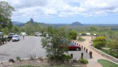 Glasshouse Mountains Lookout Stock Footage