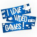 Stock Illustration of I Love Video Games