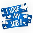 Stock Illustration of I Love My Job