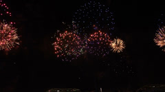 New Year party in Rio de Janeiro  with a great fire work at the beach copacabana Stock Footage