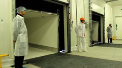 Guards in white suit Stock Footage