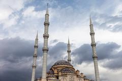 Muslim islam religion tahtakale camii mosque in turkey manavgat Stock Photos