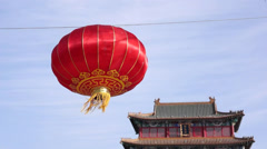 Red lantern in Spring Festival in China Stock Footage