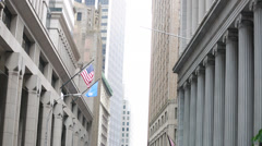 HD - NYC Wall Street building view - stock footage