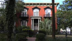 Mercer - Williams House Museum, Savannah Georgia Stock Footage