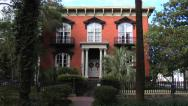 Stock Video Footage of Mercer - Williams House Museum, Savannah Georgia