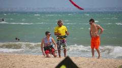 Kite surfing Stock Footage