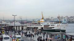 Eminonu Sea Port Istanbul, Turkki (Pääkirjoitus) Arkistovideo