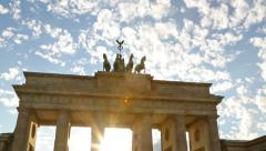 Brandenburg Gate, Berlin, Germany - stock footage