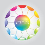 Stock Illustration of vitamins in the circle