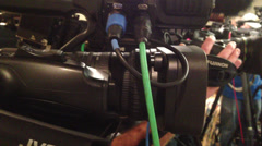 Press or news conference cutaway Stock Footage