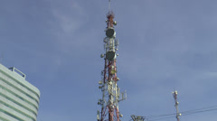 Communication tower Stock Footage