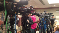 Press or news conference cutaway 2 - stock footage