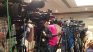 Stock Video Footage of Press or news conference cutaway 2