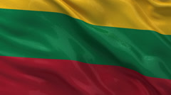 Flag of Lithuania - seamless loop Stock Footage